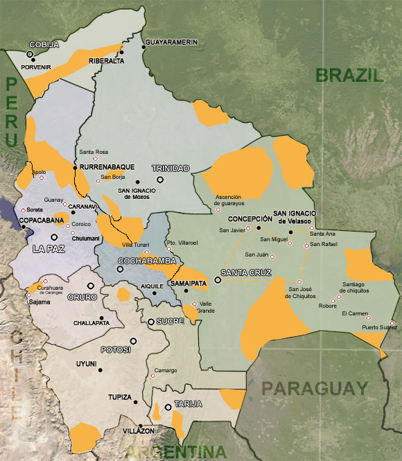 an introduction to the history and geography of bolivia History government political parties local government   bolivia has three geographic zones: the andean highlands in the southwest,  running.