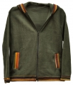 Fleece jacket with traditional aguayo fabric